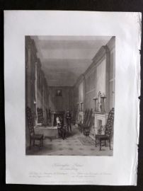 London Interiors 1841 Antique Print. Kensignton Palace, The Sussex